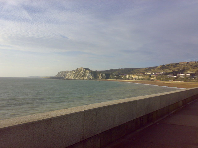 View of Shakespeare Cliff from the Admiralty Pier