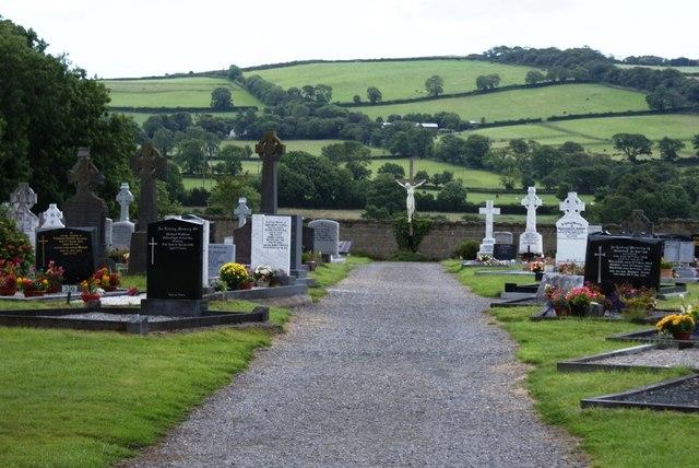 Cemetery beside the N11 at Kilbride