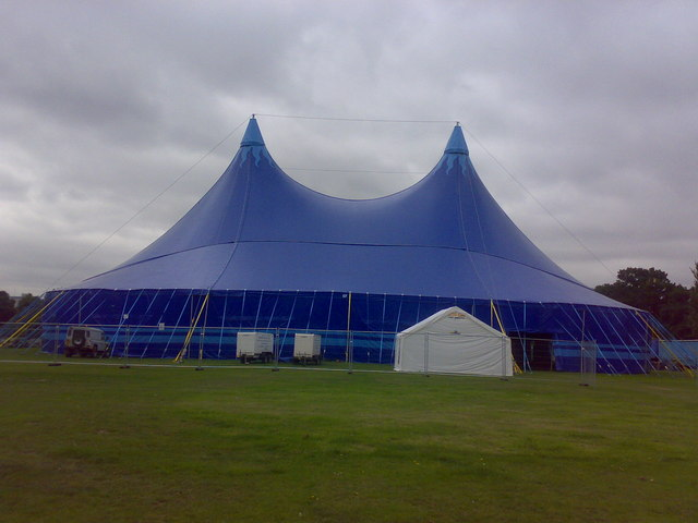 Giant marquee in Valentines Park