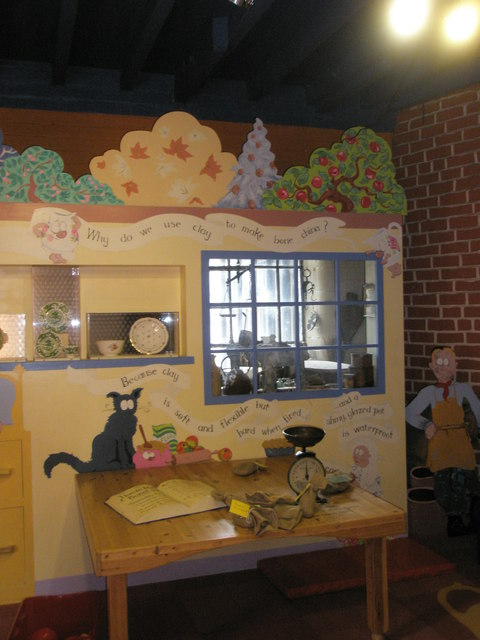 Child friendly area within the Coalport Museums