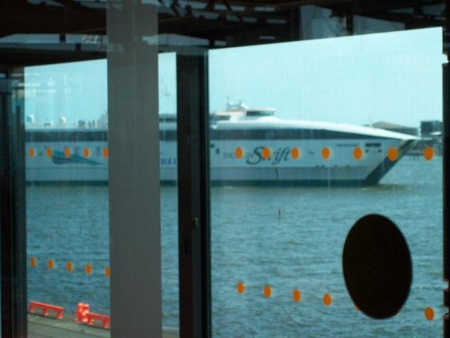 Jonathan Swift approaching her berth at Dublin Port