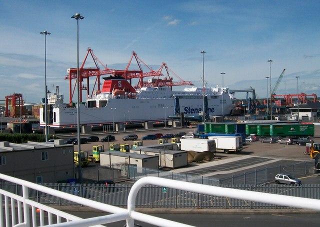 The Stena Nordica from the Irish Ferries' Jonathan Swift