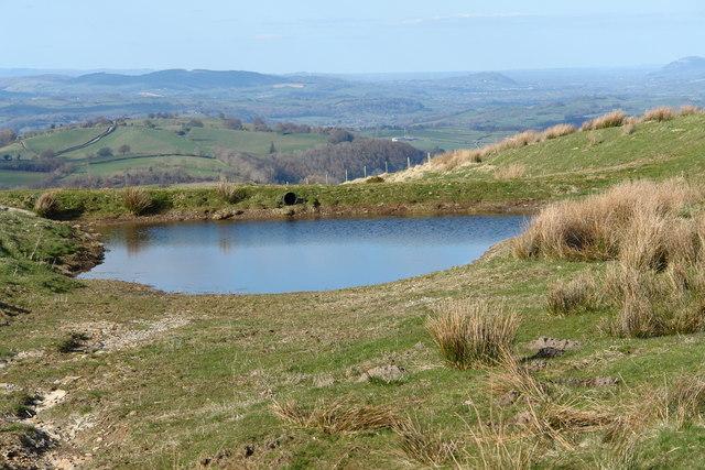 Pond near Cross Dyke on the Kerry Ridgeway