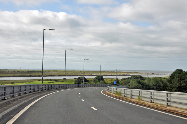 Approaching the A483 from the M4, WSW of Briton Ferry