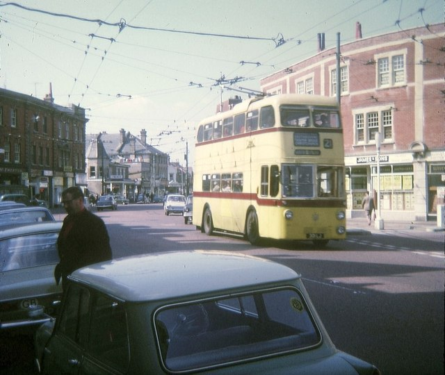 Bournemouth trolleybus in West Southbourne