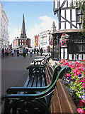 SO5140 : Empty seats, High Town by Pauline E