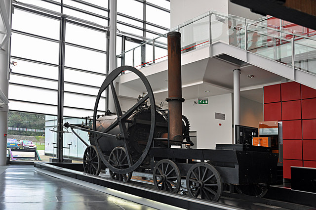 Replica of Richard Trevithick's steam locomotive, National Waterfront Museum - Swansea