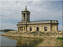 SK9306 : Normanton Church, Rutland Water by Richard Rogerson