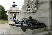 TQ2879 : Artillery Memorial, Hyde Park Corner by Peter Trimming