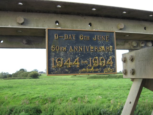 Plaque on Two Fords Bridge