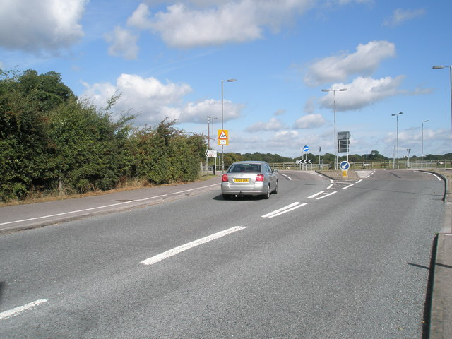 Roundabout junction on the B3397