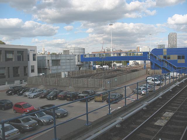 Docklands Light Railway sidings at Poplar