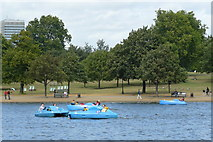 TQ2780 : Pedalos on the Serpentine, Hyde Park by Peter Trimming