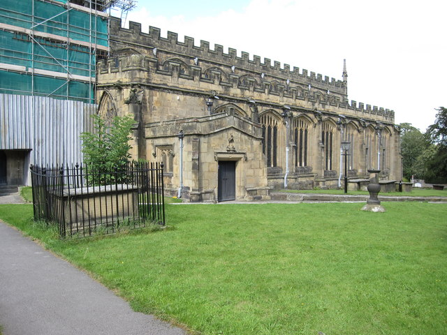 The south side of All Saints', Gresford