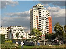 TQ4179 : Thames Barrier Park: playground by Stephen Craven