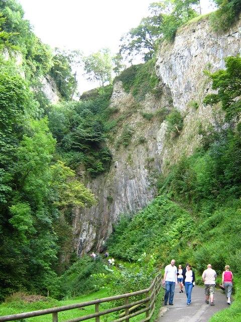 Steep valley approaching Peak Cavern