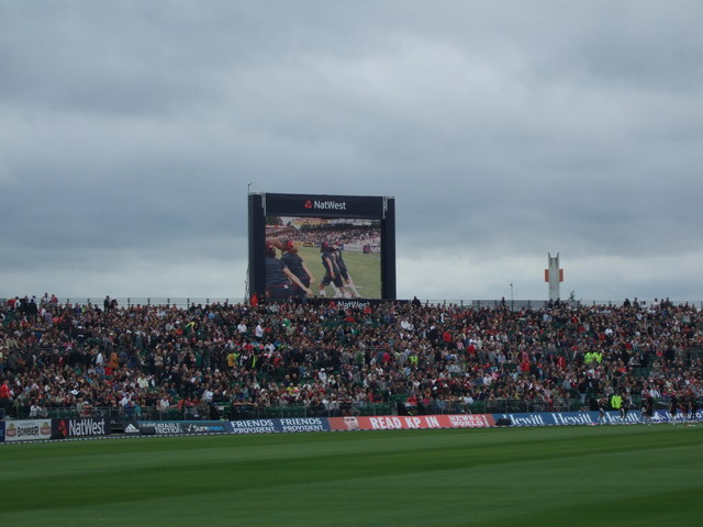 Giant TV screen at Old Trafford