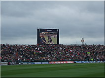 SJ8195 : Giant TV screen at Old Trafford by Richard Hoare