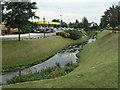 SK5446 : River Leen passing Morrisons by Alan Murray-Rust