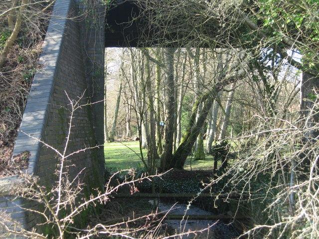 Road bridge over old railway at Toller Porcorum