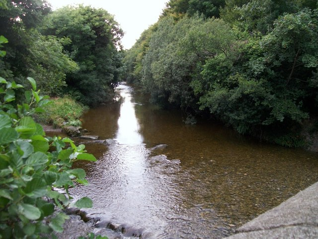 The River Shimna from the Bryansford Road Bridge