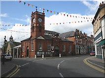SO2956 : Market House and clock tower, Kington by Roger Cornfoot