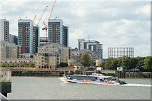 TQ3980 : River Thames Near the Millennium Dome by Peter Trimming