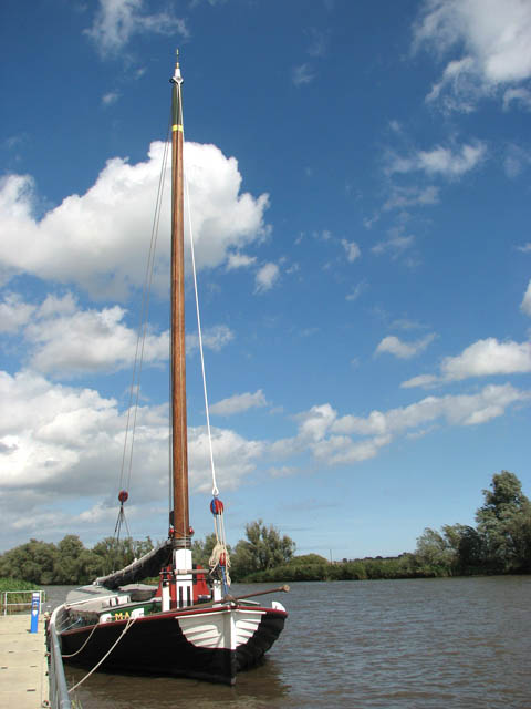 The trading wherry 'Maud' on the River Yare