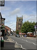 SJ7667 : Holmes Chapel, church tower by Mike Faherty