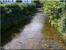 J3730 : The placid Glen River above the A2 bridge by Eric Jones