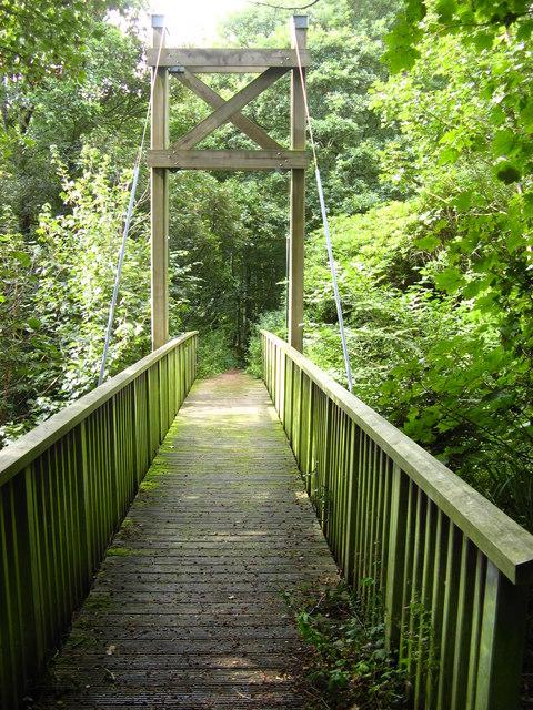 Footbridge on Clyde walkway.