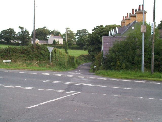 The mouth of the Churchill Road seen across the A50