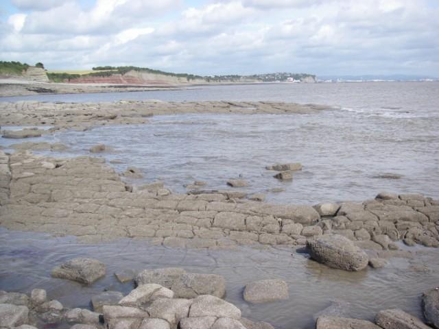 Lavernock Point rocks at low water