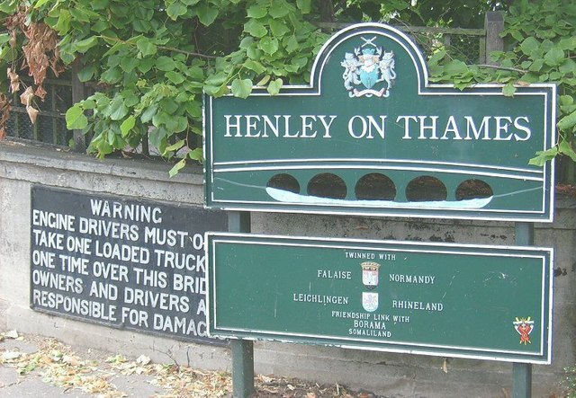 Bridge plaque, Henley on Thames
