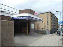 TQ3882 : Bromley-By-Bow Underground Station by Stacey Harris