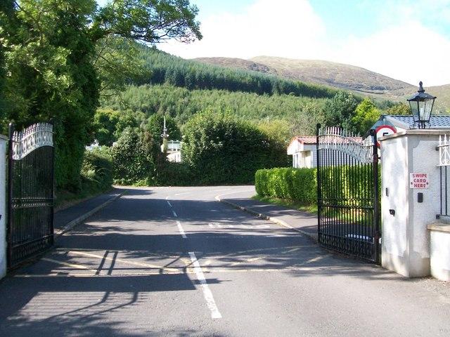 Gateway to Bonny's Caravan Park, Tullybrannigan Road
