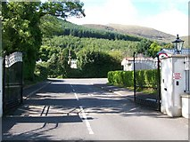J3630 : Gateway to Bonny's Caravan Park, Tullybrannigan Road by Eric Jones