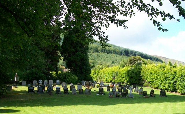 The Church of Ireland burial ground at St Colman's Church