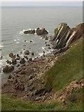 SX6345 : Rocks, Ayrmer Cove by Derek Harper