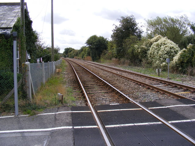 Railway Line at Mells Level Crossing