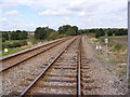 TM3976 : Railway Lines at Mells Level Crossing by Adrian Cable