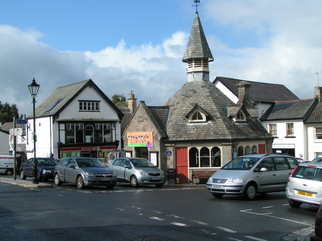 The Square and market hall, Chagford