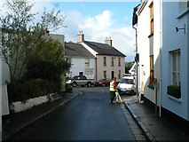 SX7087 : Southcombe Street joining the B3206, Chagford by Rob Purvis