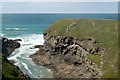 SW8573 : Warren Cove south of Treyarnon (2) by Andy F