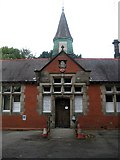 SJ9283 : Poynton Community Centre entrance (3), Park Lane by Mike Kirby