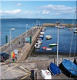 J3829 : Newcastle's north harbour wall from the Yacht Club by Eric Jones