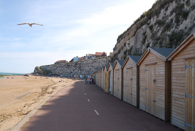 Beach huts, East Cliff, Broadstairs
