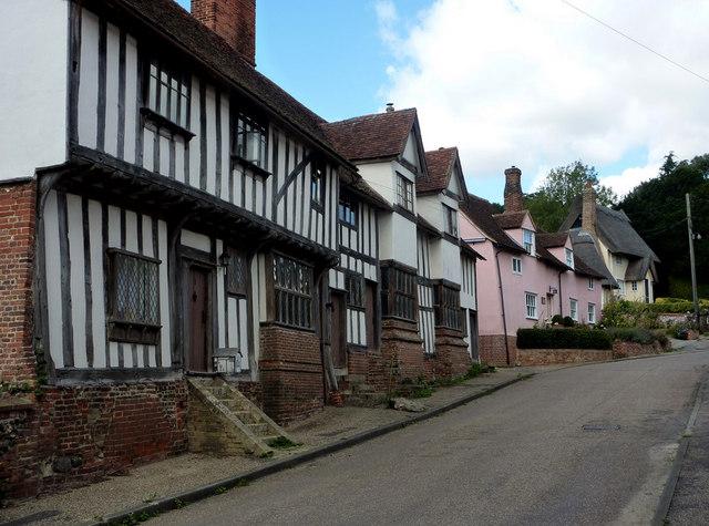Village street in Kersey