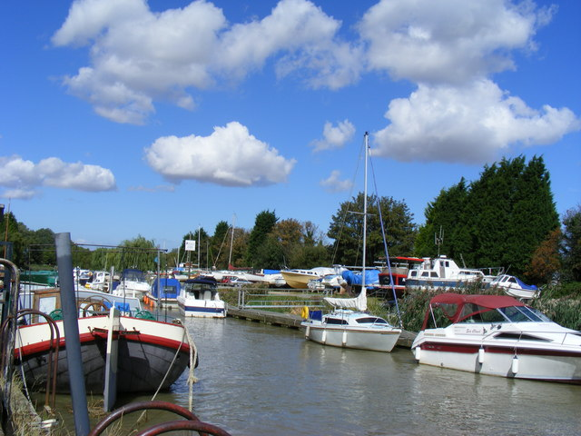 Boats on the River Stour at Sandwich