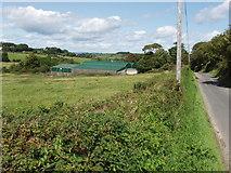 S5705 : Green barn near Kilbride North by David Hawgood